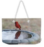 Cardinal Reflection Weekender Tote Bag