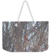 Cardinal Singing  Weekender Tote Bag