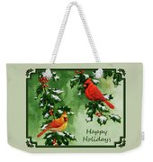 Cardinals Holiday Card - Version With Snow Weekender Tote Bag