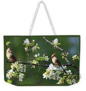 Cardinals In Spring Weekender Tote Bag