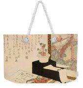 Cards Fukujuso Flowers And Screen Weekender Tote Bag