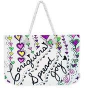 Caregivers Spread Joy Weekender Tote Bag