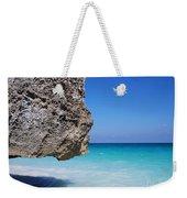 Caribbean Beach Rock Tulum Mexico Weekender Tote Bag
