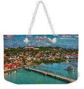 Caribbean Color Palette Weekender Tote Bag