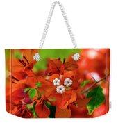 Caribbean Floral Surprise Weekender Tote Bag