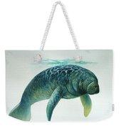 Caribbean Manatee Weekender Tote Bag