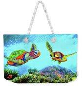 Caribbean Sea Turtle And Reef Fish Weekender Tote Bag