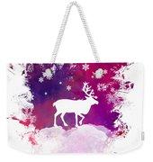 Caribou Winter Art Weekender Tote Bag