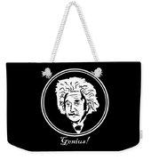 Caricature Of Albert Einstein Genius Weekender Tote Bag