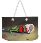 Carnation Flower And Sea Shell Weekender Tote Bag