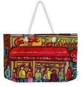 Carnegie's Deli Weekender Tote Bag
