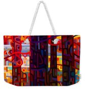 Carnelian Morning Weekender Tote Bag