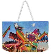Carnival - A Most Colorful Ride Weekender Tote Bag by Mike Savad