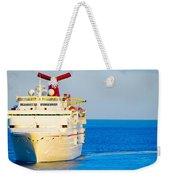 Carnival Cruise Ship Weekender Tote Bag