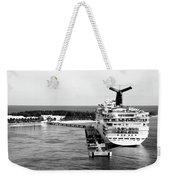 Carnival Sensation Cruise Ship - Grand Turk Island Weekender Tote Bag