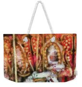 Carnival - The Carousel - Painted Weekender Tote Bag by Mike Savad