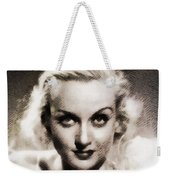 Carole Lombard, Vintage Actress By John Springfield Weekender Tote Bag
