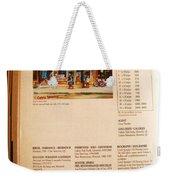 Carole Spandau Listed In  Magazin'art Biennial Guide To Canadian Artists In Galleries 2000-2001 Edit Weekender Tote Bag