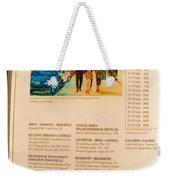 Carole Spandau Listed In Magazin'art Biennial Guide To Canadian Artists In Galleries 2006-2008 Edit Weekender Tote Bag