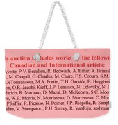 Carole Spandau Montreal Streetscene  Artist In Auction Of Canadian And International Painters Weekender Tote Bag