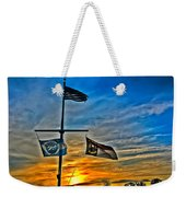 Carolina Beach Lake Flag Pole V2 Weekender Tote Bag