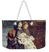 Carols For Sale  Weekender Tote Bag by Augustus Edward Mulready