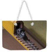 Carpenter Pencil Carved Into A Train By Cindy Chinn Weekender Tote Bag