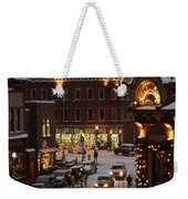 Carriage And Slded On Snowy Steets Weekender Tote Bag