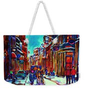 Carriage Ride Through The Old City Weekender Tote Bag