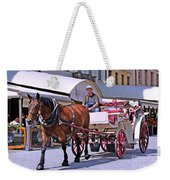 Carriage Through The City Weekender Tote Bag