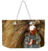 Carrying The Hay Weekender Tote Bag
