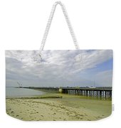 Cars Travelling On Ryde Pier Weekender Tote Bag