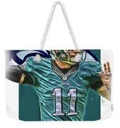 Carson Wentz Philadelphia Eagles Oil Art Weekender Tote Bag
