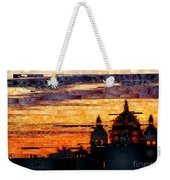 Cartagena Colombia Night Skyline Weekender Tote Bag