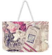 Carte Postale Bicycle Weekender Tote Bag