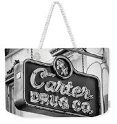 Carter Drug Co - Bw Weekender Tote Bag