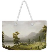 Carter's Tavern At The Head Of Lake George Weekender Tote Bag by Francis Guy