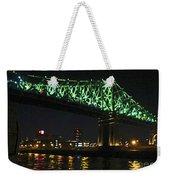 Cartier Bridge Night Weekender Tote Bag