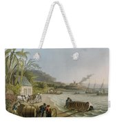 Carting And Putting Sugar Hogsheads On Board Weekender Tote Bag by William Clark