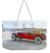 Cartoon Car Weekender Tote Bag
