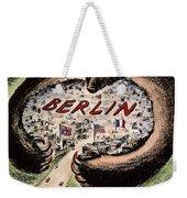 Cartoon: Cold War Berlin Weekender Tote Bag