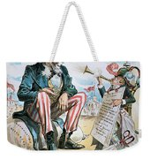 Cartoon: Uncle Sam, 1893 Weekender Tote Bag