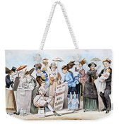 Cartoon: Womens Rights Weekender Tote Bag
