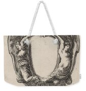 Cartouche With Two Nymphs Metamorphosed Into Trees Weekender Tote Bag
