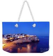 Carvoeiro In The Algarve Portugal At Night Weekender Tote Bag