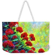 Cascade Of Geraniums Weekender Tote Bag