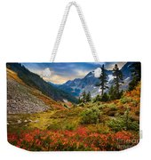 Cascade Pass Fall Weekender Tote Bag by Inge Johnsson