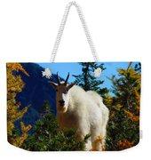 Cascade Range Mountain Goat Weekender Tote Bag
