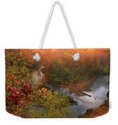 Cascade Valley Sunrise Weekender Tote Bag
