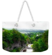 Cascadilla Gorge Cornell University Ithaca New York Panorama Weekender Tote Bag
